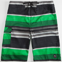 O'neill Santa Cruz Stripe Mens Boardshorts Green  In Sizes