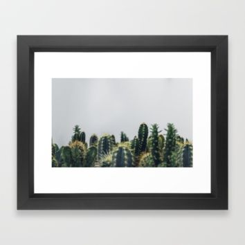succulents Framed Art Print by Happy Home Artistry