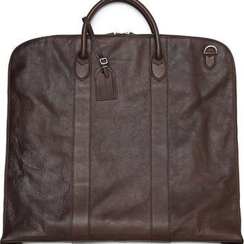 BRUNELLO CUCINELLI - Leather garment bag | Selfridges.com
