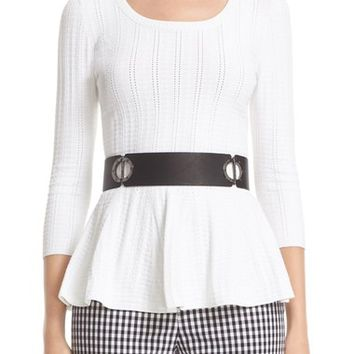 St. John Collection Icacos Knit Peplum Top | Nordstrom
