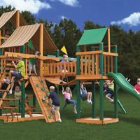 Gorilla Playsets Treasure Trove I Supreme WG Wooden Swing Set