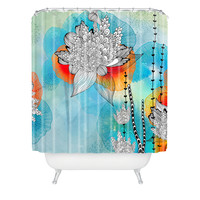 Iveta Abolina Coral Shower Curtain
