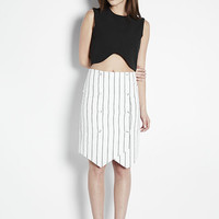 Asymmetrical Pinstriped Skirt
