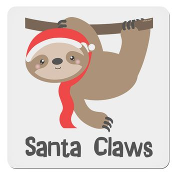 "Cute Christmas Sloth - Santa Claws 4x4"" Square Sticker by TooLoud"