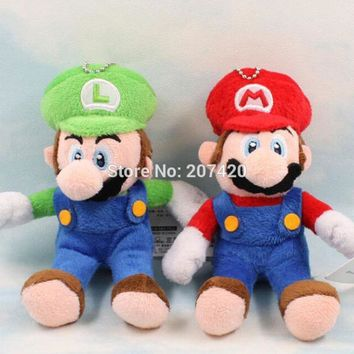 Super Mario party nes switch 11cm Cute  Bros Luigi Soft Stuffed Plush Toy Dolls Gift For Kids AT_80_8