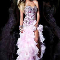 Sherri Hill 21127 Pink Hi-Lo Dress