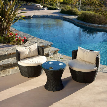 NEW!Rattan coffee table and chair Set with Cover