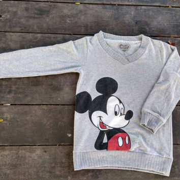 Mickey Mouse big logo sweatshirt jumper vintage design hip hop