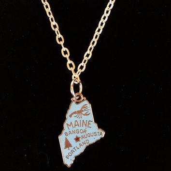 Vintage Maine Charm Necklace