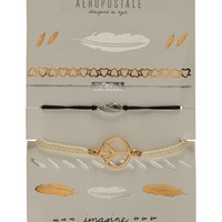 Aeropostale  Wing Cord Bracelet & Temporary Tattoos Multipack