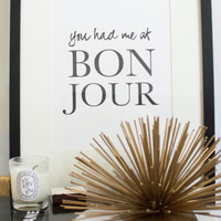 PRINTABLE Quote Art // french quote, french print, quote poster, quote print, french art, office quote, cute quote, nursery print, frenchie