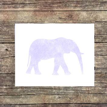 Elephant Water Color- Elephant Print -Zoo Print - Instant Download - Digital Art - Nursery Decor - Animal  Art - Desk Art - Dorm Art