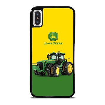 JOHN DEERE WITH TRACTOR iPhone X Case Cover