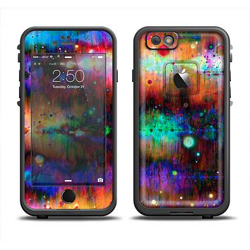 The Neon Paint Mixtured Surface Apple iPhone 6 LifeProof Fre Case Skin Set