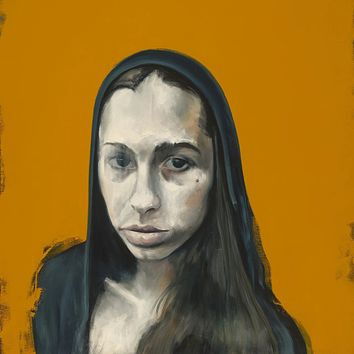 """""""Yellow Olivia"""" by Marc Ouellette, Oil on Canvas"""