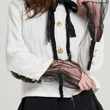 Priya Front Band Ribbon Jacket Discover the latest fashion trends online at storets.com