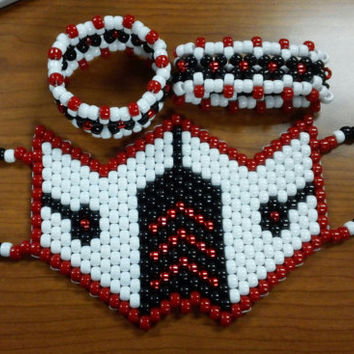 SubZero Kandi Rave Mask with 2 matching xbase cuffs