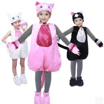 DCCKH6B lovely cat costume for children cat cosplay clothes kids animal costumes halloween cosplay animal cosplay clothing