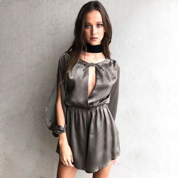 Luxury Women's Fashion Split Summer Hollow Out One Piece Dress [11462532623]