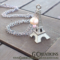 Eiffel Tower Necklace - One of a kind Romantic Paris Pendant