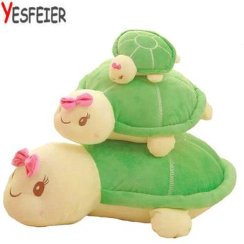 Colorful Tortue Big Eye Baby Turtle Plush Toys Amphibians Reptile Kids Doll Decor Toy Sea Turtle