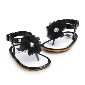 Bohemian Baby Infant Girl  Leather Flower Power Sandals Shoes