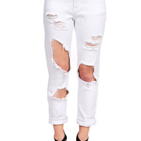 Glory Wreck Mid-Rise Girlfriend Jeans