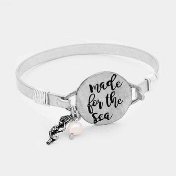 """""""Made For The Sea"""" Mermaid Pearl Charm Bracelet"""