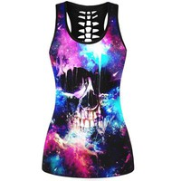 Colorful Skull 3D Printed Sporting Vests Sleeveless