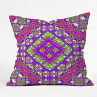 Lisa Argyropoulos Bohemia Garden Delight Outdoor Throw Pillow