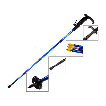FuLang fashionable Hiking Walking Trekking Trail Poles Ultralight 4-section Adjustable Canes Walking stick FZ336