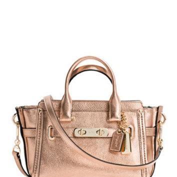 Coach Swagger 20 in Pebble Metallic Leather