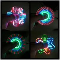 LED Fidget Spinner with 7 LED Beads Different Patterns Tri-spinner EDS Anti-stress LED Spinners Fidget Spinner Decompression Novelty Toy