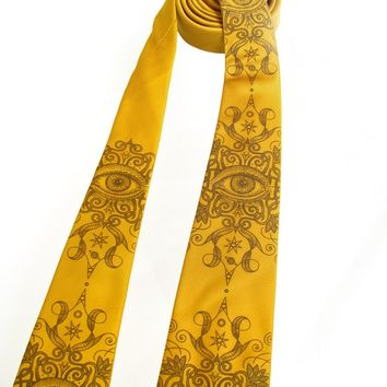 Psychedelic Eye Necktie - Screen printed tie