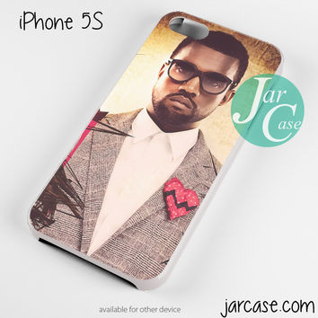 kanye west suit heart glasses Phone case for iPhone 4/4s/5/5c/5s/6/6 plus