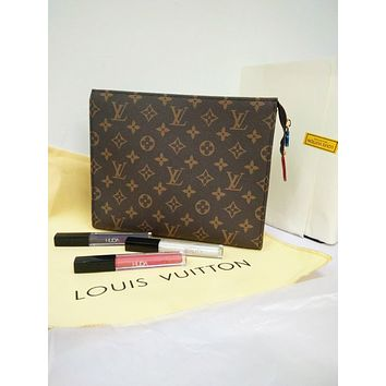 Louis Vuitton LV Classic Trending Woman Stylish Monogram Leather Makeup Bags Handbag I/A