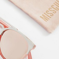 Missguided - Pink Reflective Sunglasses
