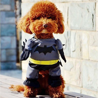 Dog Cats Batman All Seasons Party Costume Soft Uniform Coat Clothes For Pet Dog Puppy Cats HOT Cute Apparel FREE SHIPPING _ 5720