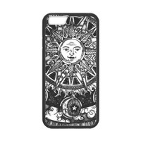 LeonardCustom Protective TPU Rubber Gel Fitted Cover Case for iPhone 6 4.7 inch, Funny Trippy Sun and Moon LCI6U04