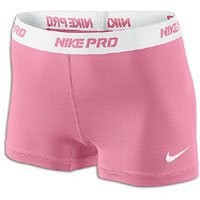 "Pink Fire-White [L] NIKE PRO 2.5"" Women's DRI-FIT Runner Shorts Large"