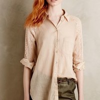 Lace-Sleeve Buttondown by Holding Horses Sand