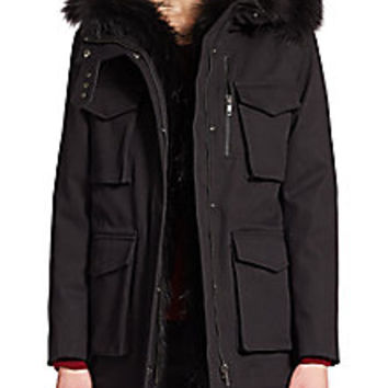 The Kooples - Classic Fur-Trim Parka - Saks Fifth Avenue Mobile