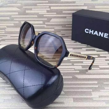 Chanel Womens 5309b C714s5 Sunglasses 59 Dark Havana - Beauty Ticks