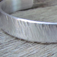 One PLAIN Textured Bracelet HAMMERED Cuff Jewelry Made To Order Handmade One At A Time Great For Men or Women