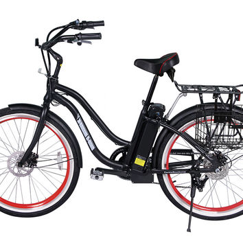 X-treme Malibu Electric Bike Step-Through Beach Cruiser Electric Bicycle