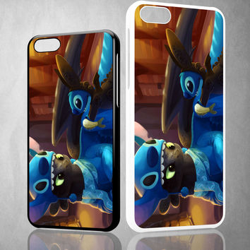Toothless and Stitch Parody  Z0364 iPhone 4S 5S 5C 6 6Plus, iPod 4 5, LG G2 G3, Sony Z2 Case