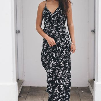 Floral Frenzy Black Floral Maxi