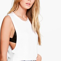 Katie Oversized Basic Drop Arm Tank