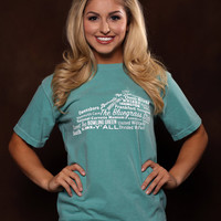 Kentucky State Tshirt - State of Kentucky Word Cloud - Southern Prep - Comfort Colors