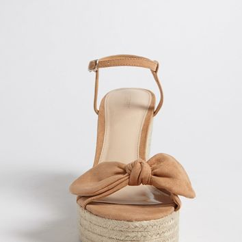 Bow Espadrille Wedges